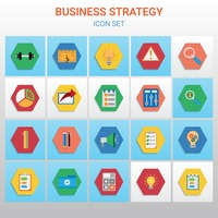 Business strategy icon collection