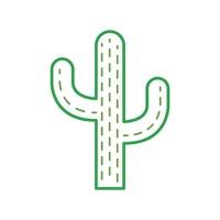 Cactus minimalist. Nature outline outlines linear