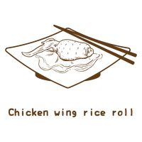 Chicken wing rice roll