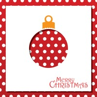 Popular : Christmas ball card design