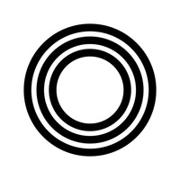 Popular : Circular outlined icon