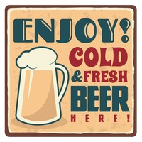 Cold and fresh beer sticker