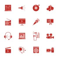 Collection of audio icons