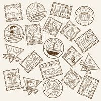 Collection of australia postage stamps