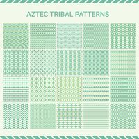 Collection of aztec tribal pattern