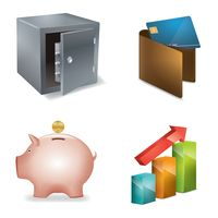 Collection of banking icons