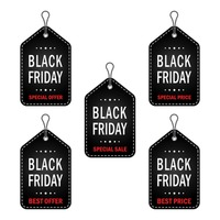 Popular : Collection of black friday sale tags