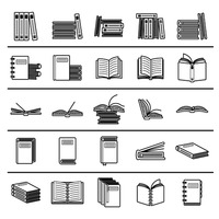 Popular : Collection of book icons