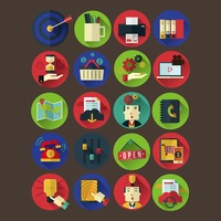 Collection of business and ecommerce icon