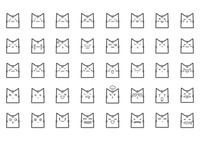 Collection of cat expressions