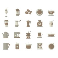 Collection of coffee equipment