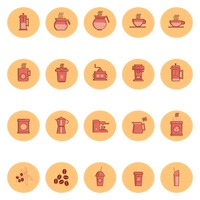 Collection of coffee icons