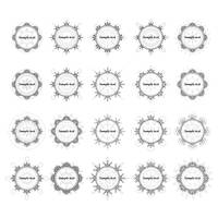 Collection of decorative circular frame templates