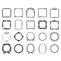 Collection of decorative retro frames
