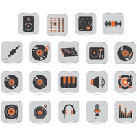 Collection of dj icons