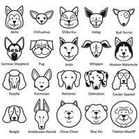 Collection of dog faces