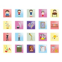 Collection of education related icons