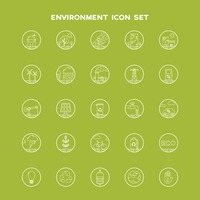 Collection of environment icon set