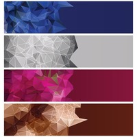 Collection of faceted banners