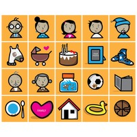 Collection of family icons