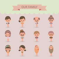 Collection of family members