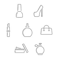 Collection of feminine icons