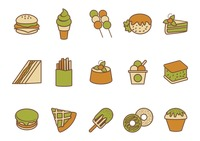 Collection of food icons