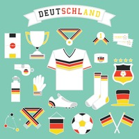 Collection of germany soccer icons
