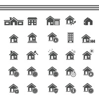 Popular : Collection of house icons