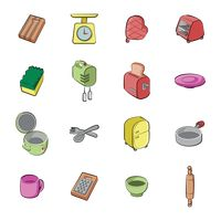 Collection of kitchen icons