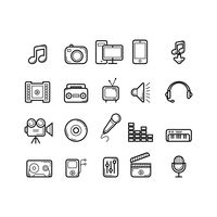 Collection of media icons