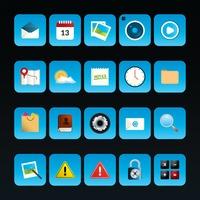 Collection of mobile app icons