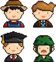 Collection of pixel art people