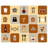 Collection of restaurant icons