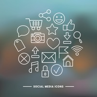 Collection of social media icon