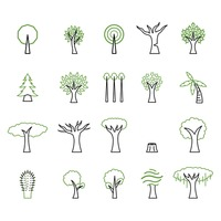 Popular : Collection of tree icons