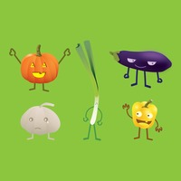 Collection of vegetable characters