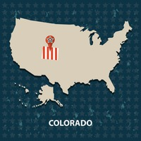 Colorado state on the map of usa