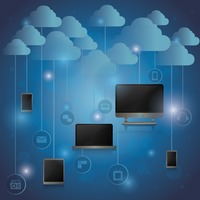 Popular : Computer gadgets with cloud concept