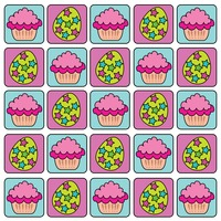 Popular : Cupcakes and eggs with stars tiled pattern