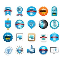 Popular : Cyber monday sale icon set