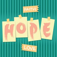 Faith hope love typography design