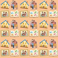 Popular : Family theme background