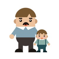Popular : Father and son