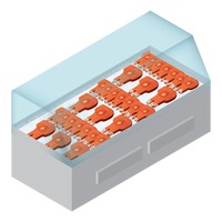 Popular : Fish meat in refrigerator