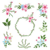 Floral decoration icons pack