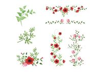 Flower decoration icons