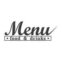Food and drinks menu logo icon