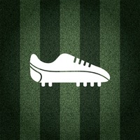 Football shoe on striped background