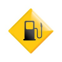 Popular : Gas pump ahead road sign